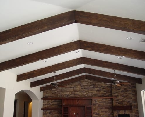 Wooden faux beams
