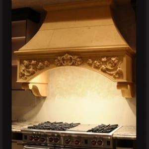 Kitchens stone hood
