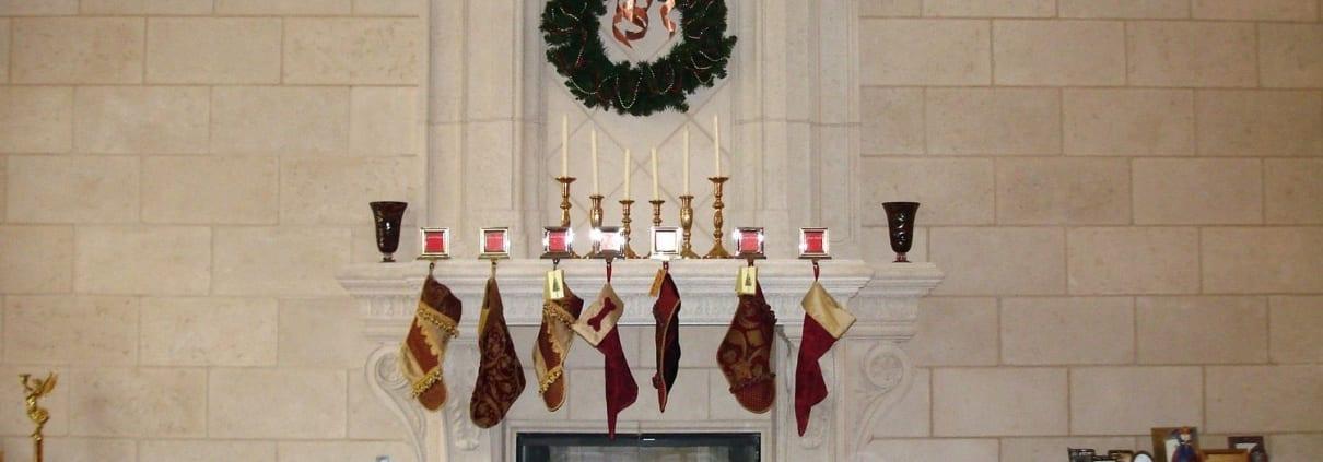 Fireplace design ideas for Christmas