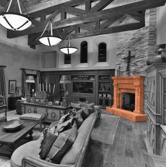 Casa de Slusher traditional fireplace