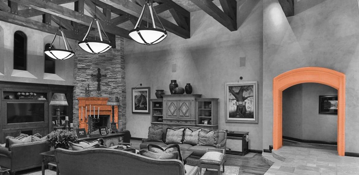 Casa de Slusher Fireplace