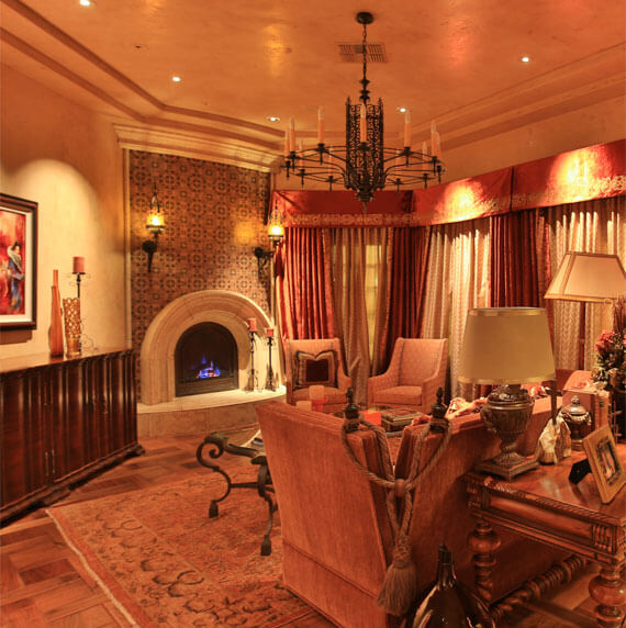 casa de Slusher living room design