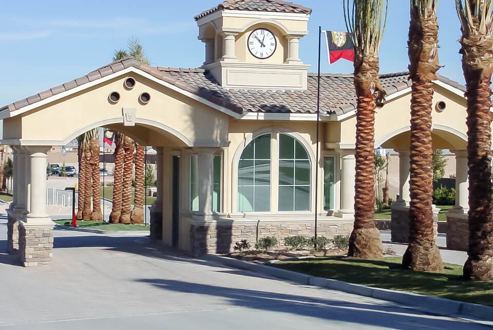 Restaurant outdoor entryway