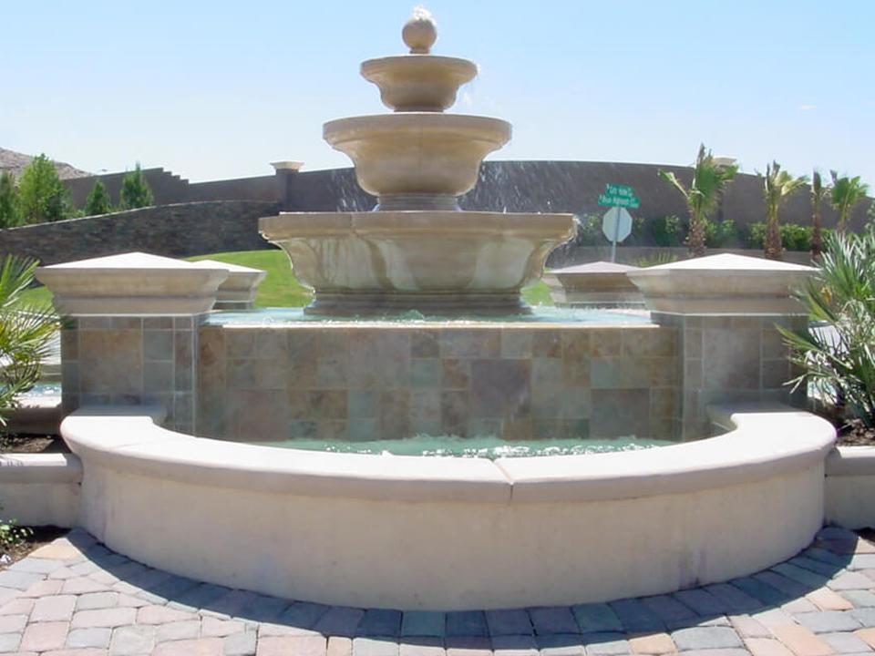 Fountain copings design