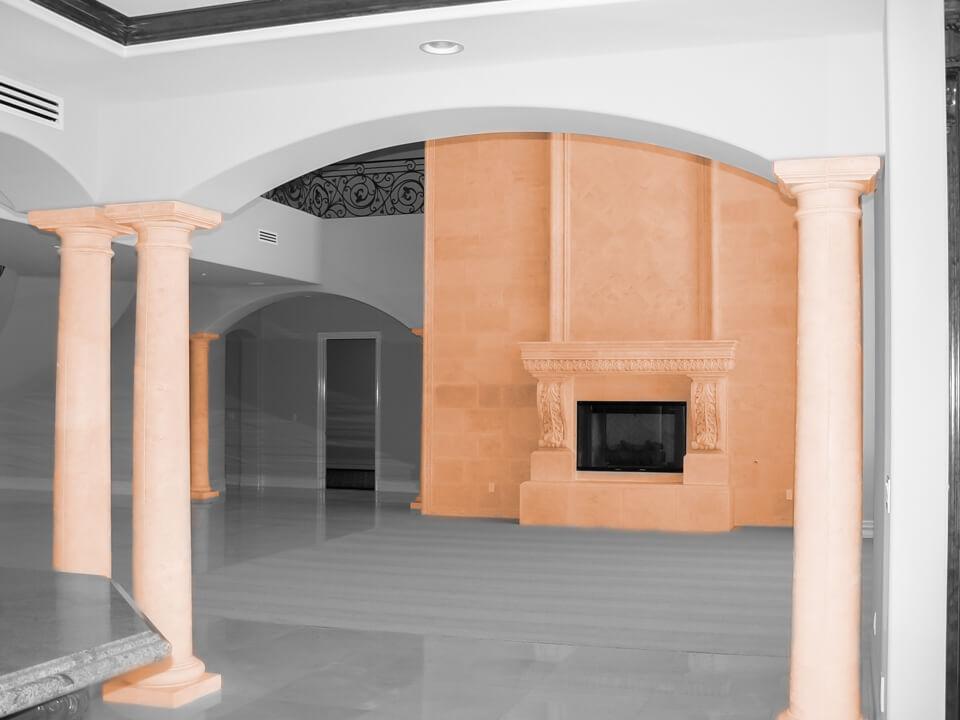 Fireplace columns