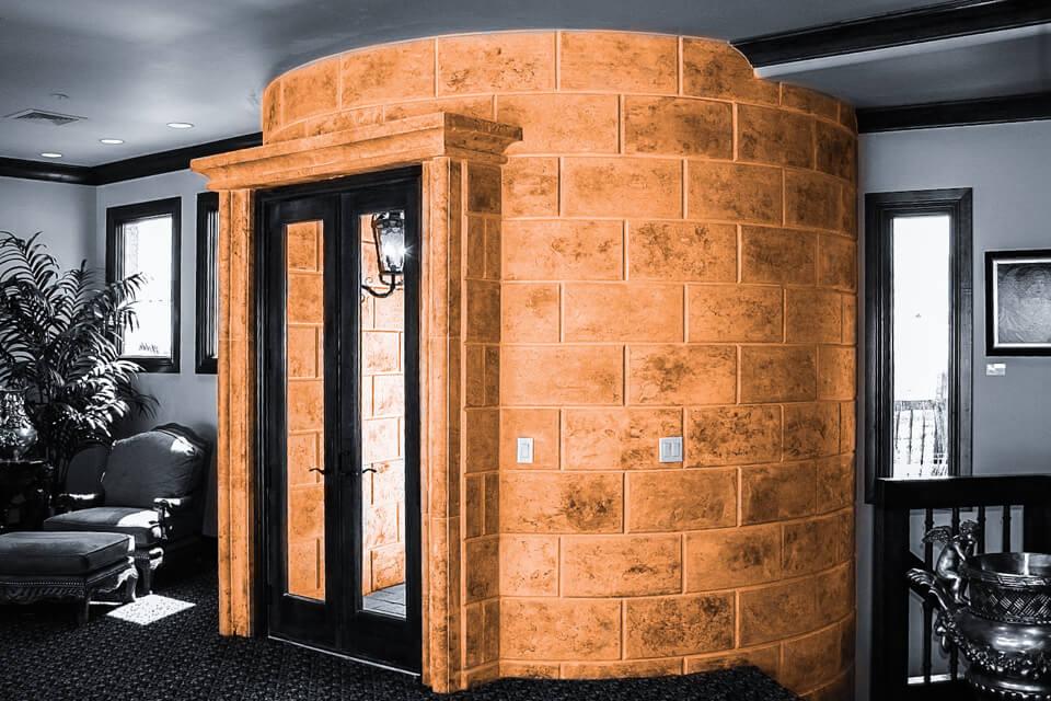 Stone interior entryway design
