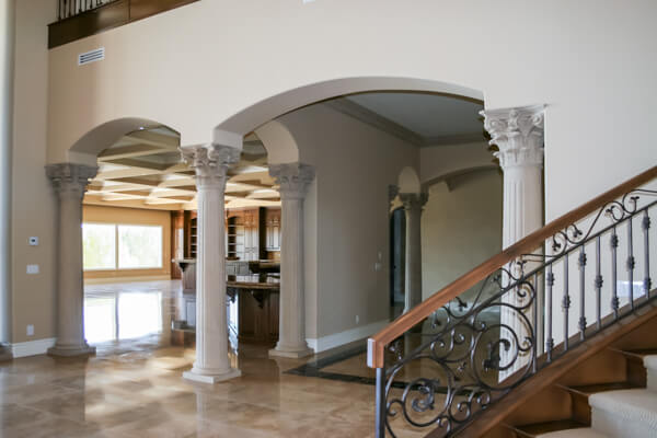 Rustic style home columns