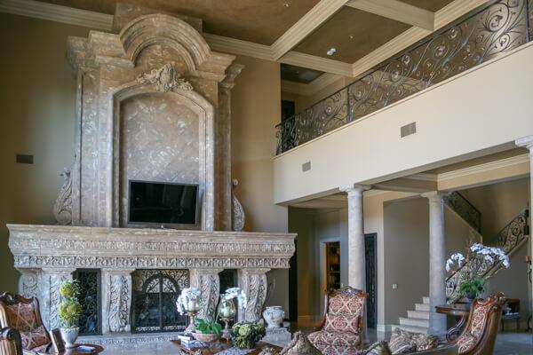 Rustic style interior design
