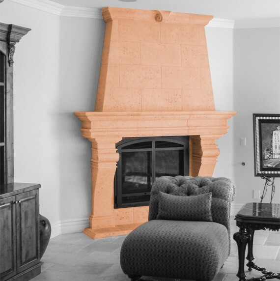 Custom fireplace home design