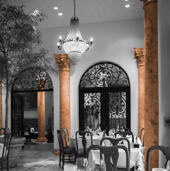 Restaurant column design