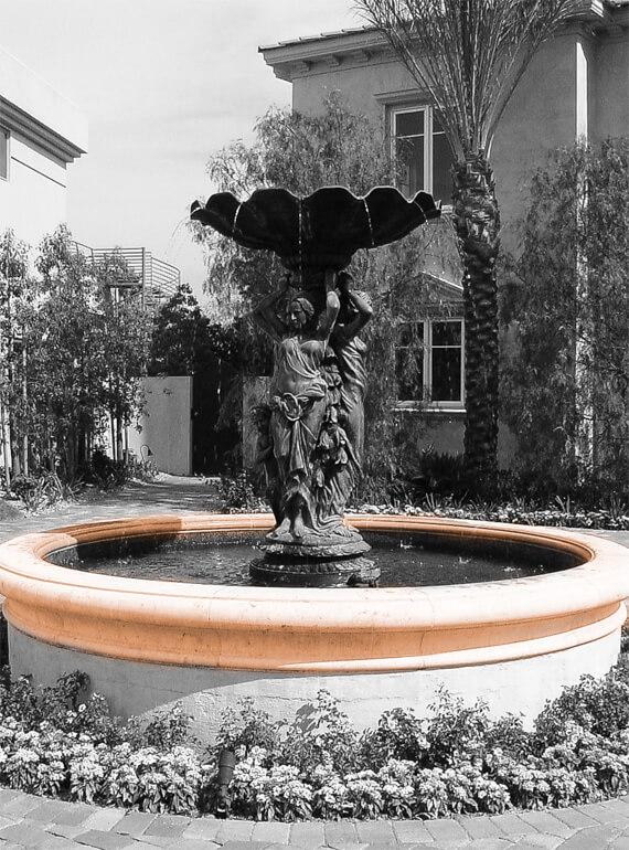 Restaurant fountain design