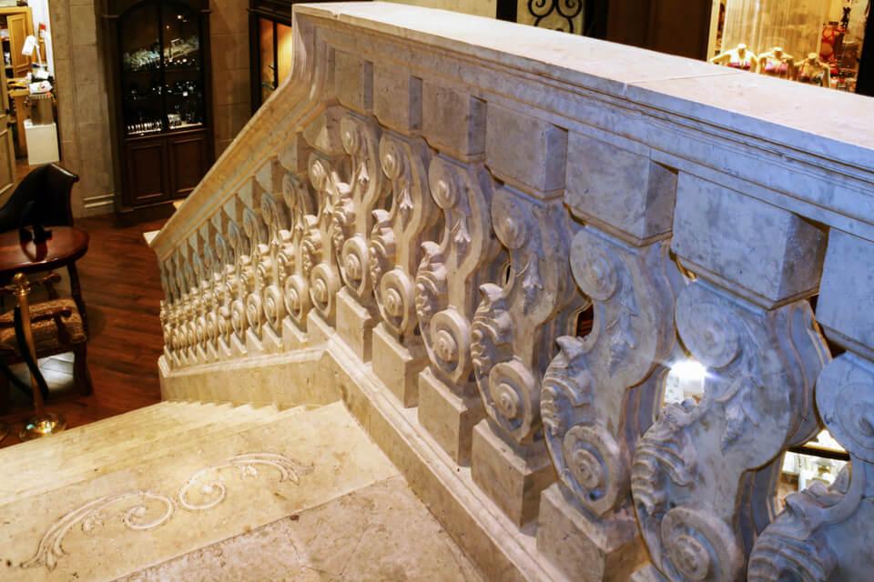 Restaurant interior staircases