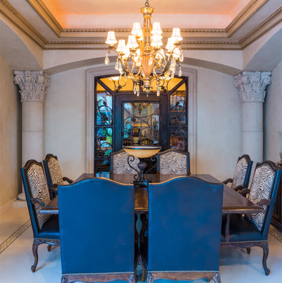 Dining room columns design