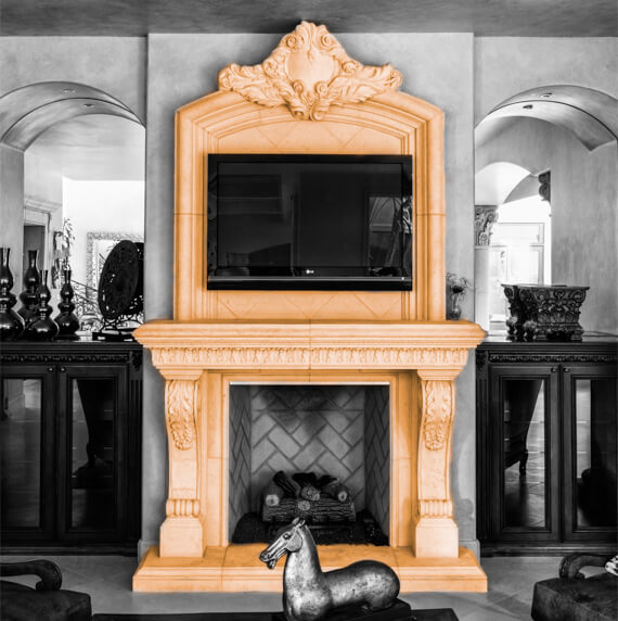 TV stand fireplace design