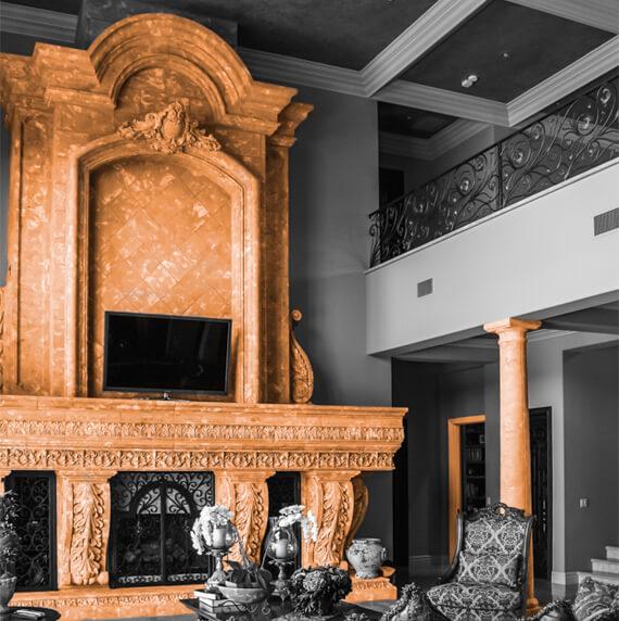 Bohemian style fireplace