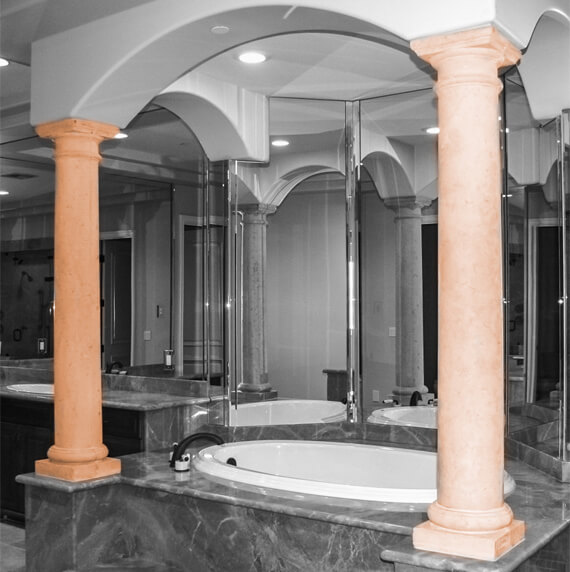 Bathroom columns collection