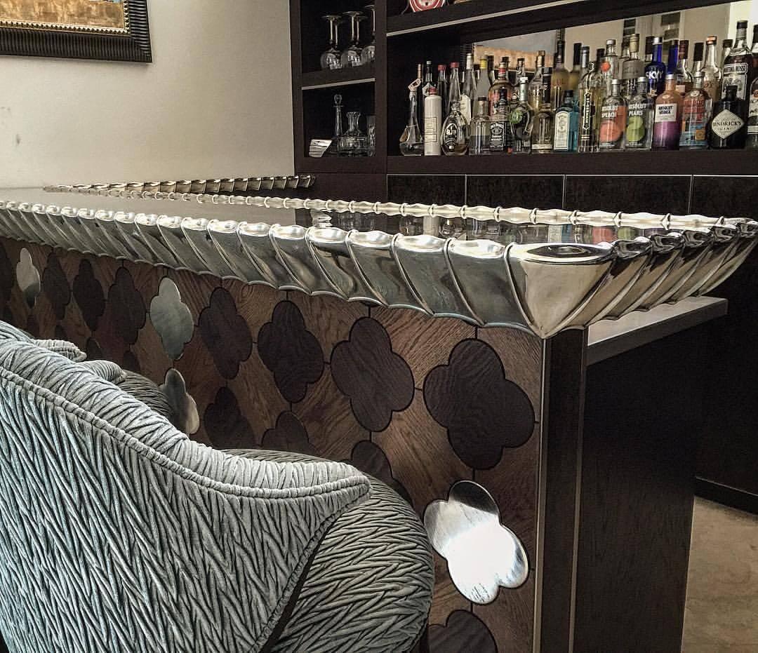 luxury metal countertop