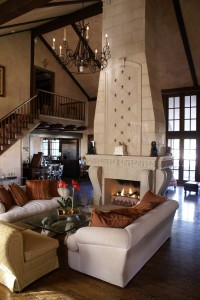 fireplace w overmantel