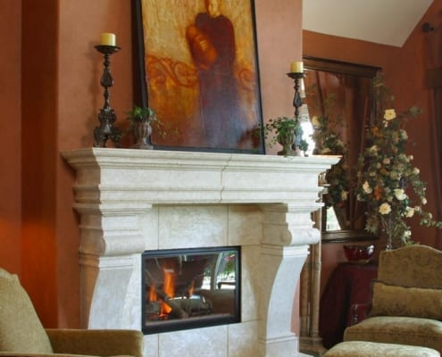 Rustic Design Fireplace