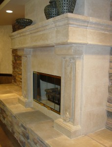 custom mantel by Realm of Design