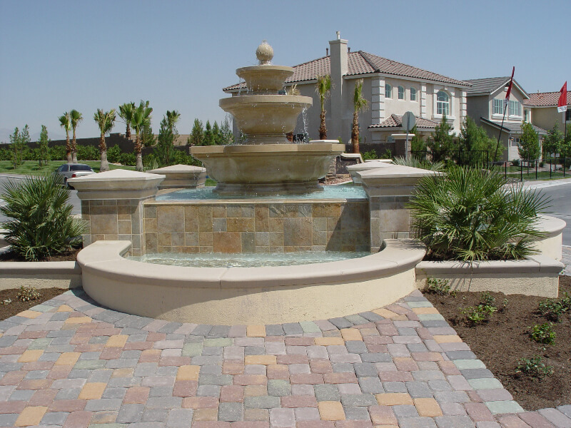 backyard fountain design
