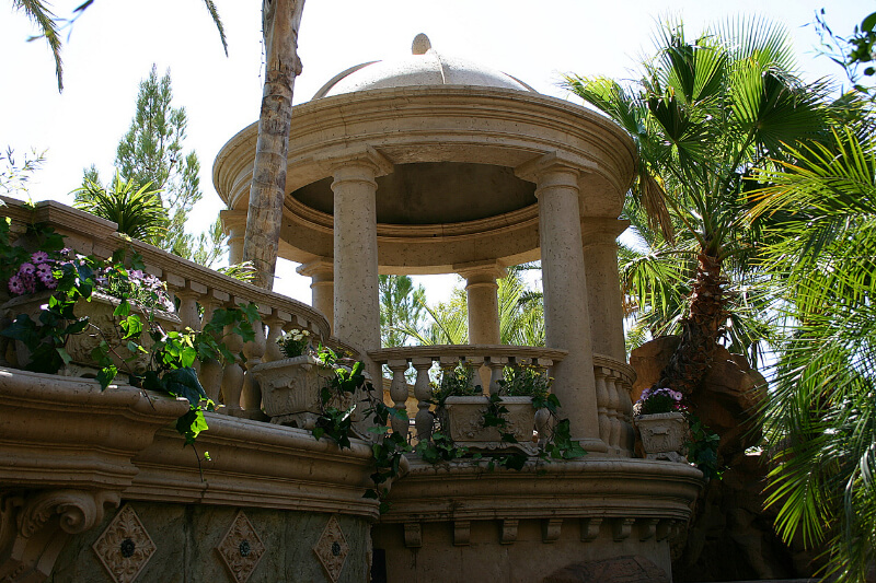 Garden stone pavilion